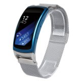 Milanese 18mm Magnetic Watch Strap, Mesh loop stomach TIC Watch Strap for Samsung Fit2
