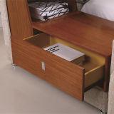 ファブリックベッドの居間の寝室セットの現代家具、Fb8043