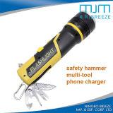 Torcia multifunzionale della torcia elettrica LED del multi di colore martello Emergency di sicurezza
