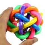 Het kleurrijke Product van het Huisdier kauwt Bal van de Hond van de Regenboog van het Stuk speelgoed de Zachte Plastic