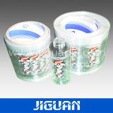Siliver brillante película de plástico transparente de la etiqueta del vaso de perfume