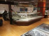 De Delicatessenwinkel van de Supermarkt van de douane en de Ijskast van de Vertoning van het Vlees met Verre Compressor