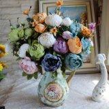 Euroart-künstliche Blumen-Partei-Verbindungs-Pfingstrose-Blumenstrauß