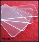 Feuille de verre de quartz transparent utilisé pour la fenêtre optique