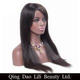 Hecho en la tapa de China que vende la peluca llena natural del cordón del color derecho con el pelo del bebé