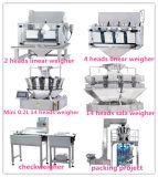 준비되어 있는 음식 패킹 및 무게를 다는 기계