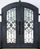 Arch Top frente única porta de ferro forjado para casa