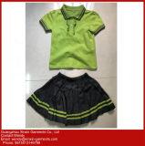 Algodão feito-à-medida uniforme barato do desgaste da escola do preço para os meninos do jardim de infância e as meninas (U44)