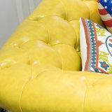 Sofà del cuoio di disegno moderno della mobilia del salone (AS846)