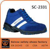 Chaussures de fonctionnement de Saicou pour des chaussures de sûreté des hommes sans chaussures de sûreté de lacet et d'été Sc-2331
