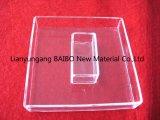 Square Claro Cadinho de vidro de quartzo de sílica fundida
