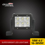 El doble impermeable rema la luz de la barra del jeep ATV 4.5inch 18W LED