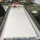 Partes superiores contrárias brancas puras de cozinha da pedra de quartzo com projeto personalizado