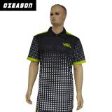 La conception personnalisée Mens Womens pleine Sublimation Polo T Shirt prix bon marché