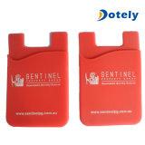 Portatarjetas al por mayor del teléfono móvil del silicón del pegamento de la aduana los 3m