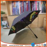 Parapluie noir de golf estampé par logo durable à la mode