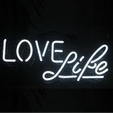 룸, 맥주 바 포스터를 위한 네온사인 빛 사랑 생활