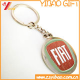Trousseau de clés fait sur commande de logo d'impression avec le dessus de résine (YB-KY-40)