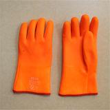 Грубой зима изолированная пеной вкладыша отделки Sandy дневная PVC Glove-5123.01