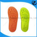 Parte inferior colorida dos Insoles gravados da sapata para crianças