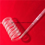 Best Selling Espiral transparente de alta temperatura do tubo de Sílica