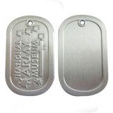 Étiquettes de crabot antiques personnalisées en métal de thème de musique avec la chaîne de bille