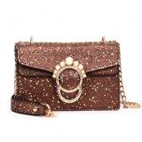 Chainl Bag PU Women昇進の真珠ロックのメッセンジャーの肩の女性ハンドバッグ