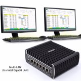 New Arrivals mini PC Fanless computer with 6 Intel Gigabit of port 4USB3.0 6LAN (I3 7100u DDR4 MEMORY)