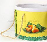 Ronda de la impresión de fantasía de alta calidad caja de papel con asa