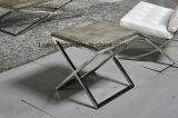 模倣された木製の上のステンレス鋼のソファー表の側面表の端表のコンソールテーブルの居間の家具