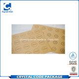 Étiquette auto-adhésive personnalisée de collant de papier d'emballage pour l'emballage