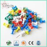 De kleurrijke Plastic HoofdSpeld van de Duw van het Metaal voor Bureau en Huis