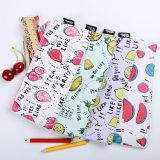 la papeterie mignonne d'élève de sac de mémoire de type des fruits frais 1PC met en sac la couleur imperméable à l'eau en cuir du sac 4 de crayon d'unité centrale procurable