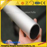 Tubo de aluminio anodizado hebra de aluminio del tubo de la sección del OEM
