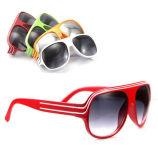 Piloto de desportos de plástico óculos de sol com a marca do OEM