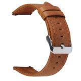 riem van de Band van het Horloge van het Leer van 22mm de Bruine Echte voor het Toestel van Samsung S3