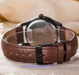남자 숙녀 (WY-17009A)를 위한 주문 로고 석영 시계 형식 손목 시계