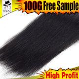 Cheveu brésilien bon marché de couleur de noir de gicleur