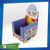 Visualizzazione del controsoffitto del cartone, cremagliera di visualizzazione promozionale del supermercato, scatola di presentazione di PDQ