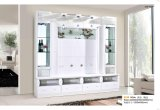Wohnzimmer hölzerne Fernsehapparat-Verkaufsmöbel mit LED-Licht