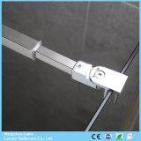Rectángulo con bisagras pivote barato de la ducha del precio con el vidrio Tempered (9-3380)