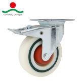 브레이크 유럽 총 유형 산업 백색 PP 피마자 바퀴를 가진 회전대