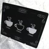 De Mat van de Kop van de koffie, met het Ontwerp van de Douane en Grootte