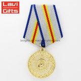 Тип горячего сбывания новый делает Китаем медальон армии спорта сувенира нестандартной конструкции 3D воинское медаль пожалования золота металла с тесемкой