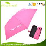 Mini Pocket Superregenschirm der rosafarbenen Panel-19inch 8 Mini