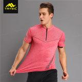 Mann-Komprimierung-Hemd mit Reißverschluss zugemachten Sport-T-Shirts