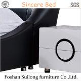 Base moderna de couro real da mobília americana do quarto do estilo