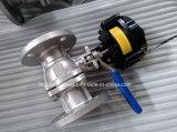 Pn16 ISO5211 flutuante da válvula esférica flangeada com Caixa de Interruptor de Limite