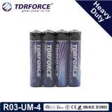 China-Fabrik-Supertrockene Hochleistungsbatterie für Rauch Detetor (LR03-AAA Size-AM4)