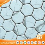 Плитка мозаики шестиугольника Сетк-Установленная Statuario стеклянная (V6KP701-BH)